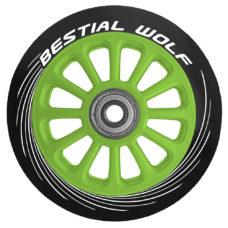 Колесо самоката 100мм чёрно-зелёное