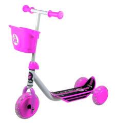 Самокат 3-х колесный розовый