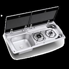 Варочная панель газовая с раковиной Dometic MO 9722L (2 конфорки)