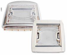 Rooflight Vision Vent M pro 40x40sm rama belaya so svetodiodom
