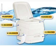 Kemping Tualet Komplekt s tualetom tualetnoj himiej i tualetnoj bumagoj