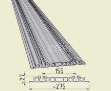 29 Dvojnoj rels dlya avto sidenya Eurositz dlina 3 m