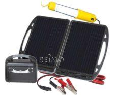 29 Mobilnyj solnechnyj generator Carbest s modulem 13 Vt i akkumulyatorom 12 V 7 A