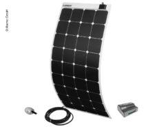 9 Solnechnyj komplekt Power Panel Flex 130 ot Carbest 12V 130W kvadrat belyj