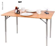 4 Bambukovyj stol HOLIDAY TRAVEL alyuminievaya rama 100 x 65 x 42 65 sm