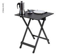 20 Raskladnoj stol SINGLE BLACK 50 x 50 x 64 sm alyuminij