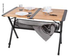 3 Bambukovyj stol Mendoza s setkoj rolikovyj stol temnaya alyuminievaya rama