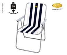 55 Pohodnoe kreslo Sun Relax belo sinee gruzopodemnost do 80 kg