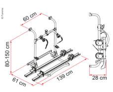 18 Zadnij bagazhnik Carry Bike PRO E Bike na 2 elektrovelosipeda 60 kg