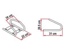 28 MotoWheel Chock Front sistema blokirovki perednego kolesa