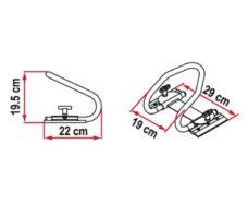 96 MotoWheel Chock Rear sistema blokirovki zadnego kolesa