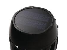 69 Svetodiodnaya lampa s effektom plameni i solnechnoj zaryadkoj