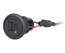 91 Moshhnost USB C A dvojnaya rozetka 12 24V DC vyhod 5V DC 3 6 A chernyj