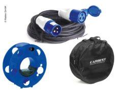 23 Komplekt kabelej s kabelem 3x2 5 mm2 25m i kabelnym barabanom meshok dlya kabelya