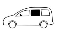 32 Sdvizhnoe steklo dlya VW Caddy Maxi BJ 2009 2020 gg 1