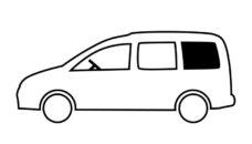 34 ZHestkoe ustanovochnoe okno dlya VW Caddy Maxi BJ 2009 2020 gg