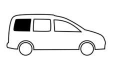 35 ZHestkoe ustanovochnoe okno dlya VW Caddy Maxi BJ 2009 2020 gg