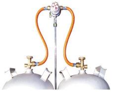 65 Sistema Multimatik s dvumya butylkami vyhod 50 mbar 8 mm s kontrolnym klapanom