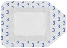 00000 Plenochnyj patch s ostrovkom Kuri Med sterilnyj 7 x6 sm